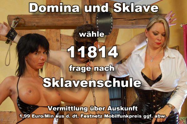 Dominanter Telefonsex, Domina und Sklave in der Sklavenschule, Telefonsex ohne 0900 Nummer